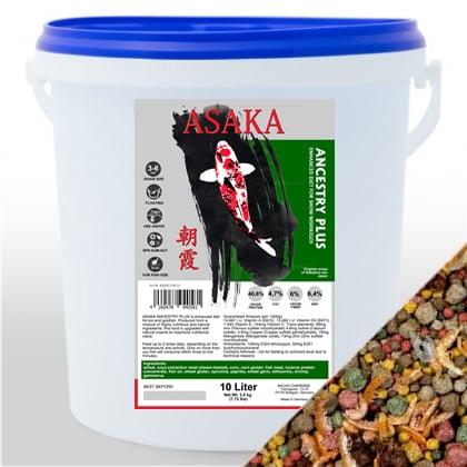 ASAKA Ancestry Plus 10L sa prirodnom hranom (svilci, kozice, gammarusi)